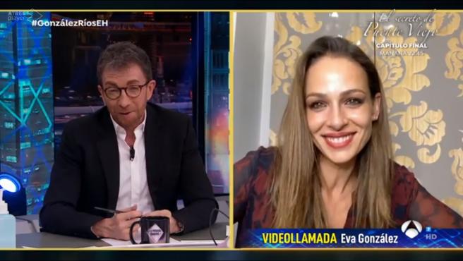 Eva González, en 'El hormiguero: Quédate en casa'.