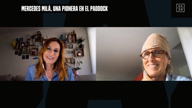 Izaskun Ruiz y Mercedes Milá, durante su entrevista