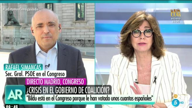 Rafael Simancas, Secretario general del PSOE en el Congreso, habla en 'AR'.