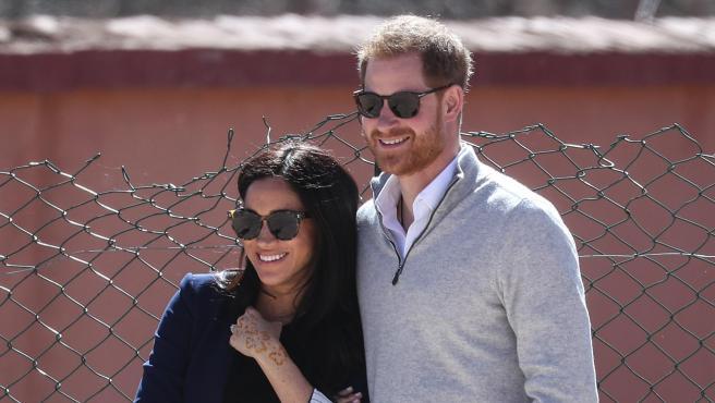 Meghan Markle y el príncipe Harry, en Marruecos en febrero de 2019.
