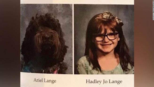 Ariel y Hadley Jo en el anuario.