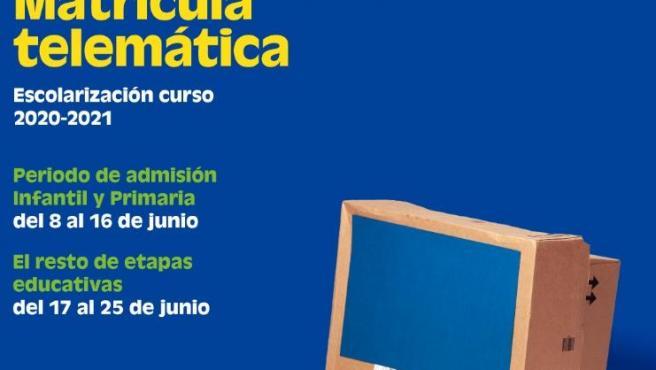 Educacióna ctiva la web Telematricula.es per a l'admissió telemàtica des de casa
