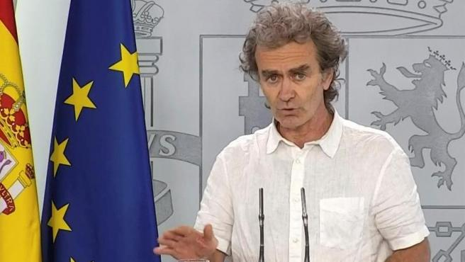 El director del Centro de Alertas y Emergencias Sanitarias, Fernando Simón, este martes 26 de mayo.