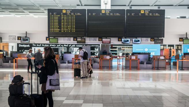 Terminal T1 nacional-internacional del Aeropuerto César Manrique de Lanzarote.