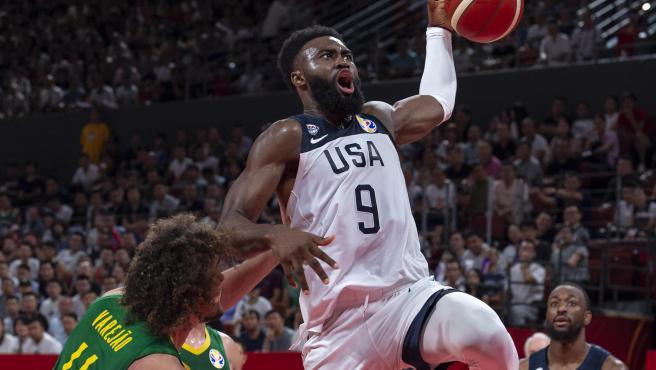 Jaylen Brown, durante el Mundial de baloncesto.