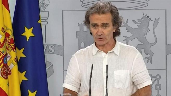 Fernando Simón, en una rueda de prensa.