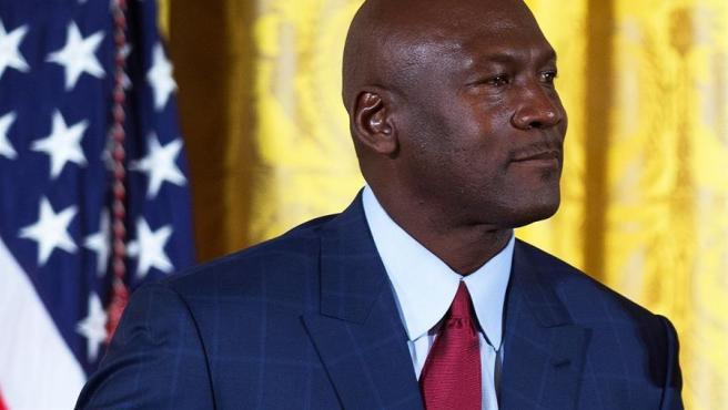 Michael Jordan, durante la ceremonia en la que recibió la Medalla Presidencial de la Libertad, en la Casa Blanca, en 2016.
