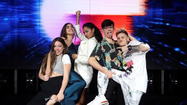 Los cinco finalistas de 'OT 2020'.
