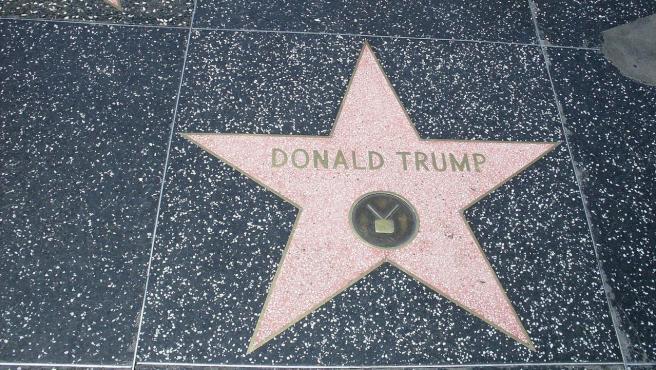 La estrella de Donald Trump en el Paseo de la Fama de Hollywood (EE UU), en una imagen de archivo.