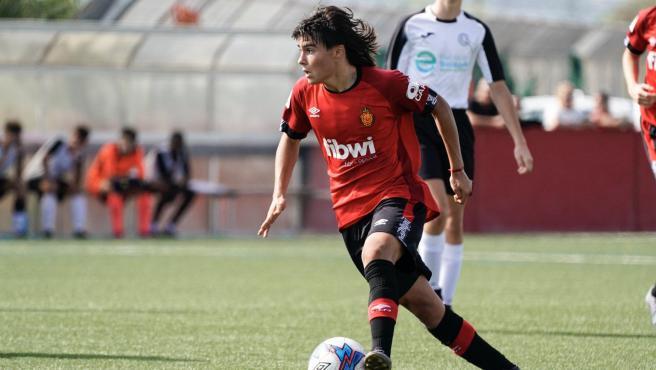 Luka Romero, durante un partido