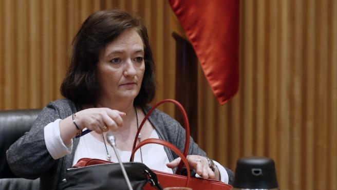 La presidenta de la AIReF, Cristina Herrero, en el Congreso.