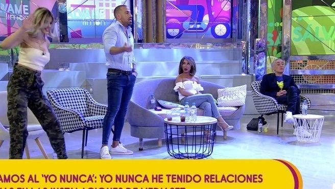Ylenia, Rafa Mora, María Patiño y Kiko Hernández en 'Sálvame'.
