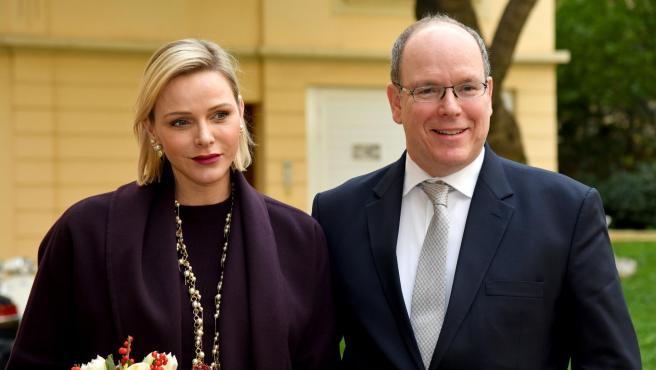Alberto de Mónaco y la princesa Charlene.