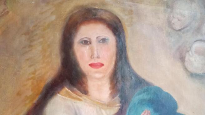 Una de las famosas Inmaculadas de Murillo tras la intervención de un restaurador de muebles.