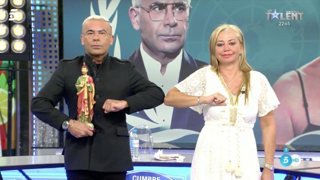 Jorge Javier Vázquez y Belén Esteban, en 'Sálvame'.