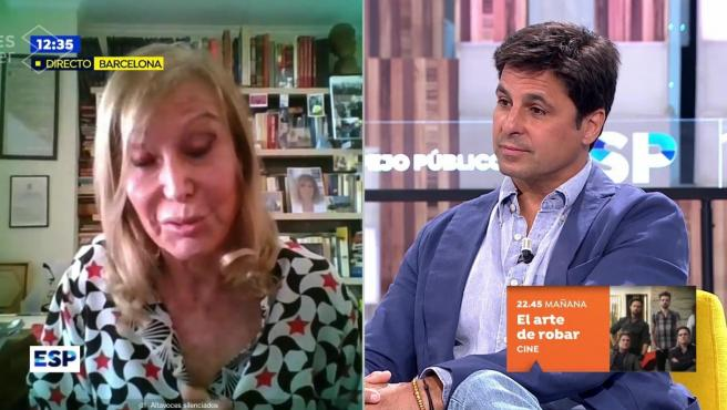 Pilar Eyre y Fran Rivera enfrentados por la tauromaquia en 'Espejo público'.