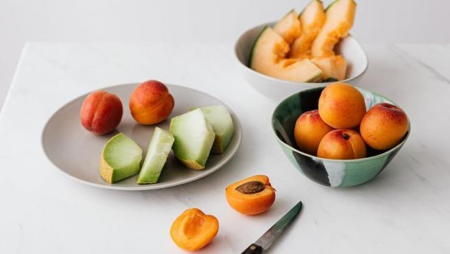 Frutas cortadas.