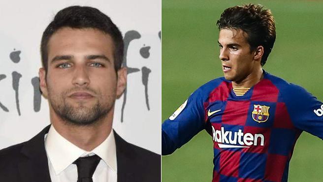 El actor Jesús Castro y el futbolista Riqui Puig, del FC Barcelona