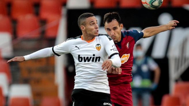 Rodrigo Moreno, durante el Valencia - Osasuna