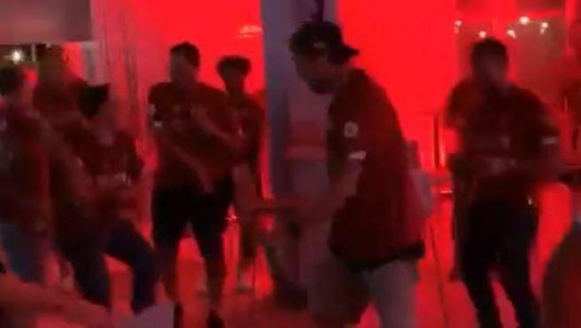 Jürgen Klopp, bailando durante la celebración de la Premier League