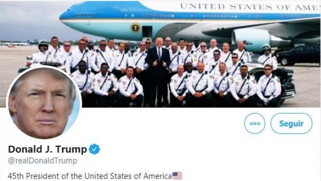 Cuenta de Twitter de Donald Trump.