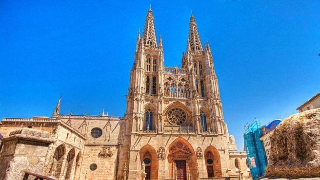 Vista de la fachada de La Catedral de Burgos