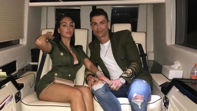 Cristiano y Georgina Rodríguez, en una foto de sus redes sociales.