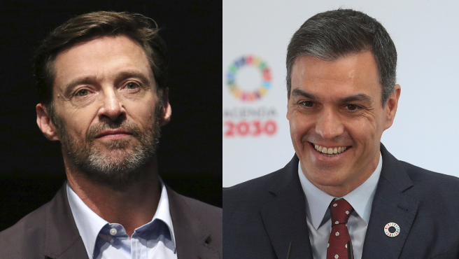 Hugh Jackman y Pedro Sánchez.