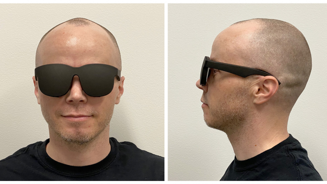 El prototipo de gafas de realidad virtual.