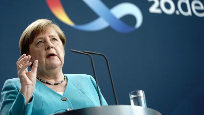 Angela Merkel statement on Germany's presidency of EU in Berlin