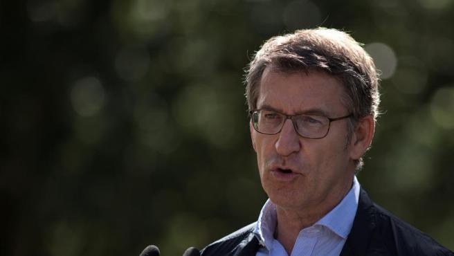 El candidato a la reelección por el PP a la Xunta de Galicia, Alberto Núñez Feijóo.