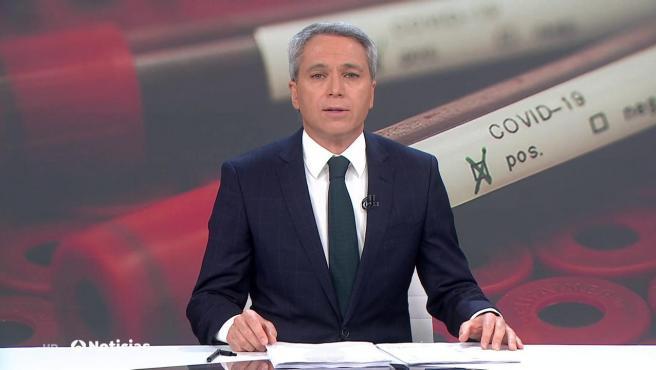 El presentador de Antena 3 Noticias Vicente Vallés.