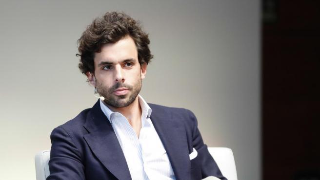 El empresario Alonso Aznar participa en una conferencia en Madrid, en 2019.