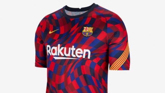 Camiseta de entrenamiento del FC Barcelona