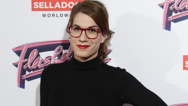Elsa Ruiz en la 'premiere' de Flashdance