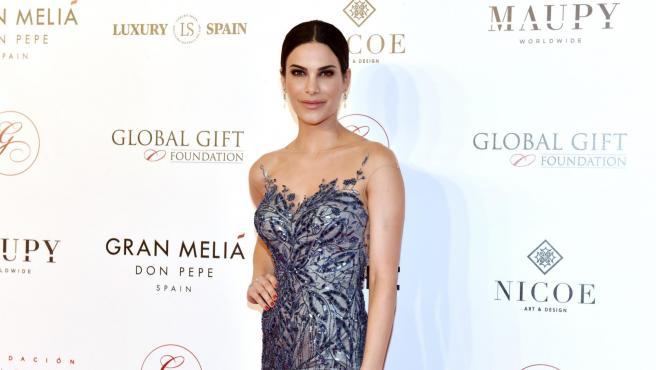 La modelo Carla Barber en una gala en Marbella, 2018.