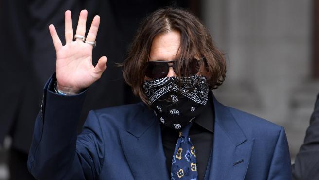 El actor Johnny Depp, en el juicio contra el periódico 'The Sun'.