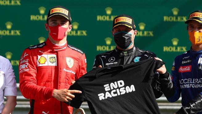 Valtteri Bottas y Charles Leclerc, tras el GP de Austria