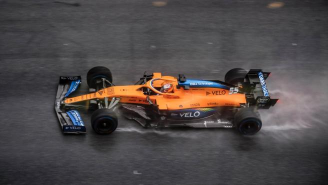 Carlos Sainz, durante la clasificación del GP de Estiria
