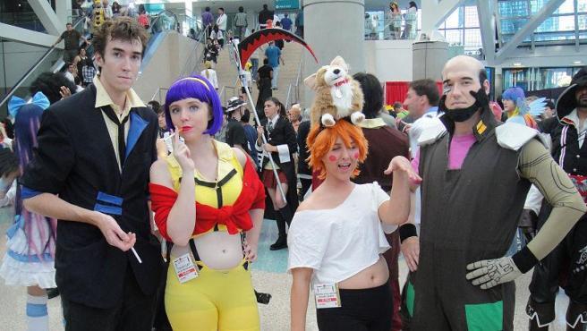 Personajes de Cowboy Beebop en Anime Expo 2011 Foto Doug Kline. Wikimedia Commons