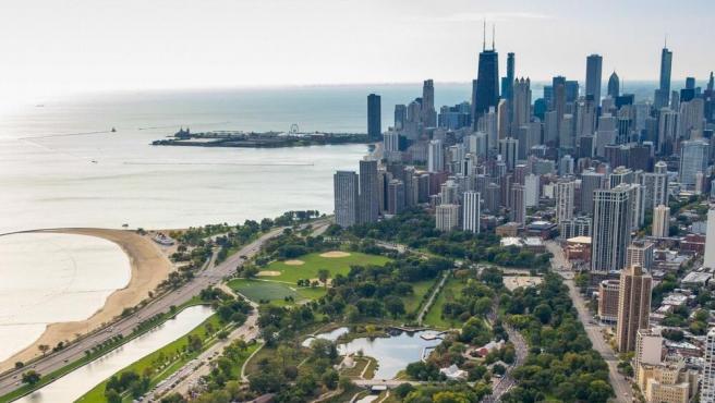 Imagen aérea de Chicago.