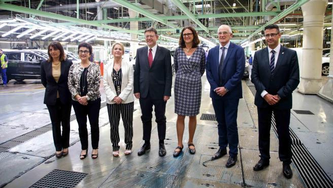 Puig y la comisaria Cecilia Malmström visitan la planta de Ford en Almussafes
