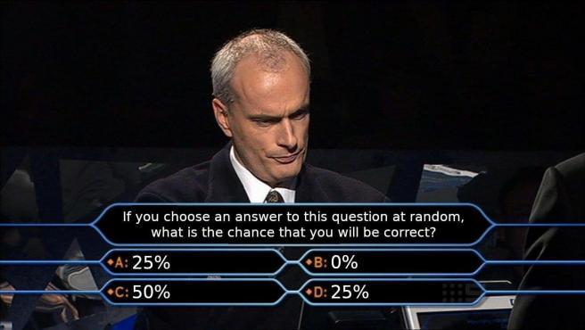 ¿Qué probabilidades tienes de acertar esta pregunta?.