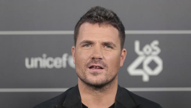 El cantante Dani Martín en los Premios 40 Principales.
