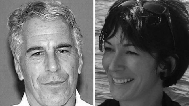 Jeffrey Epstein en 2006, y Ghislaine Maxwell en 2007.