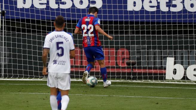 Inui marca su gol en el Eibar - Valladolid