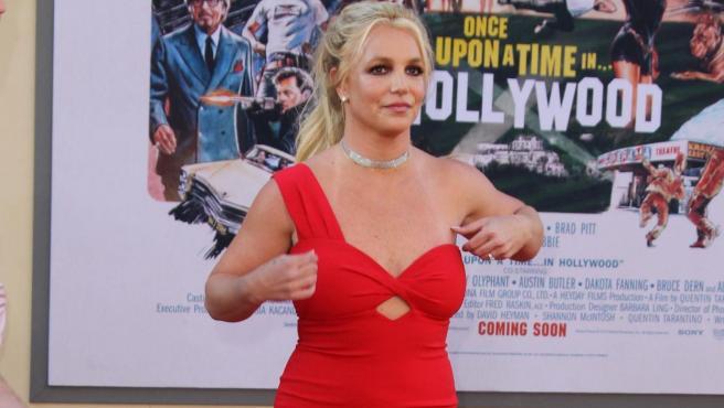 La cantante Britney Spears en una premiere