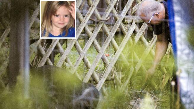 La Policía busca en el jardín en el caso Madeleine McCann