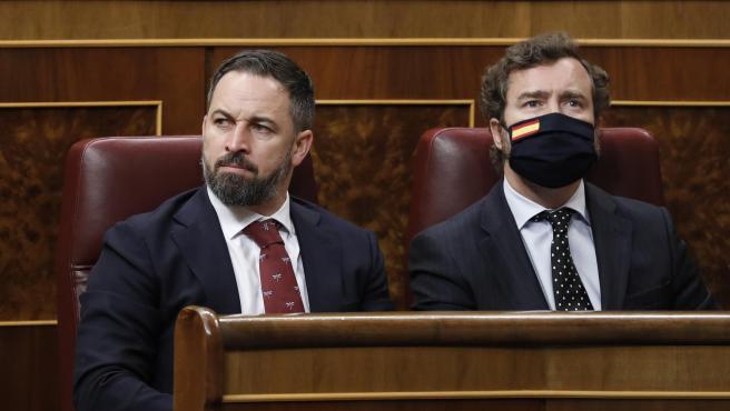 Pleno de sesion de control al Gobierno en el Congreso de los Diputados con Santiago Abascal e Ivan Espinosa de los Monteros.24/06/2020. Foto Javi Martinez/Pool.