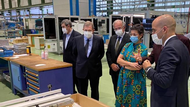 La ministra de Asuntos Exteriores, Arancha González Laya, en su visita al País Vasco.